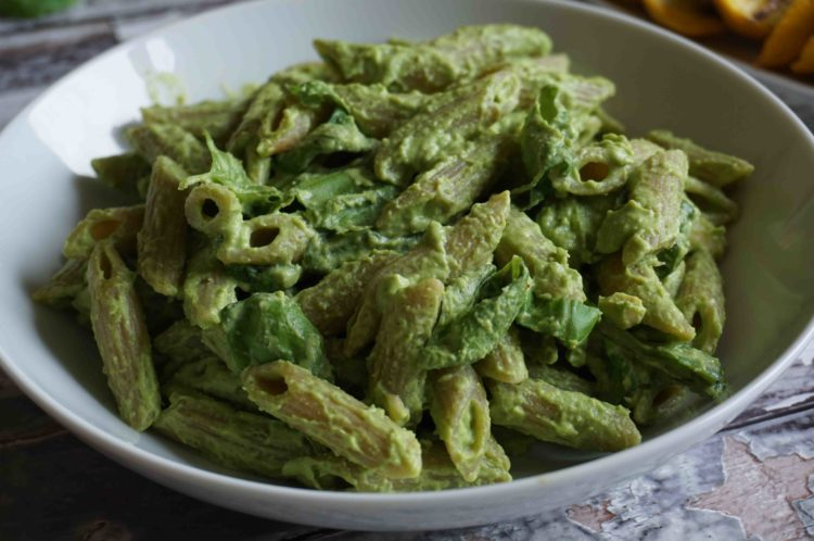 A creamier and low-fat version of the traditional pesto sauce